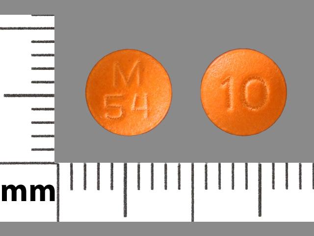 Image 1 - Imprint M 54 10 - thioridazine 10 mg
