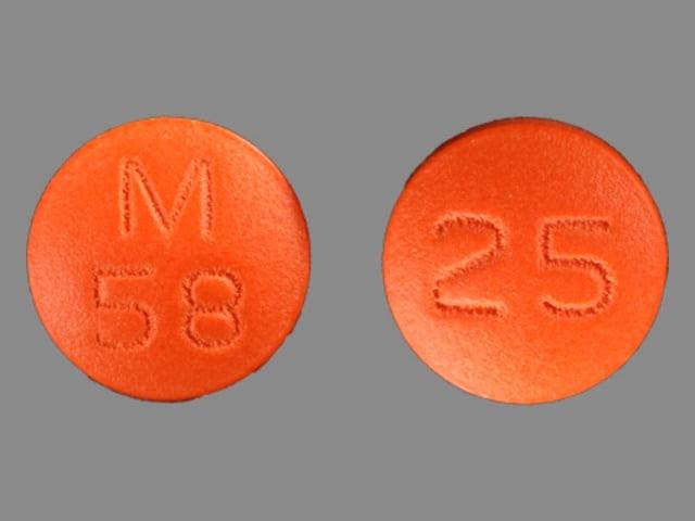 Image 1 - Imprint M 58 25 - thioridazine 25 mg