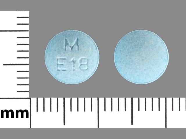 Imprint M E18 - enalapril 20 mg