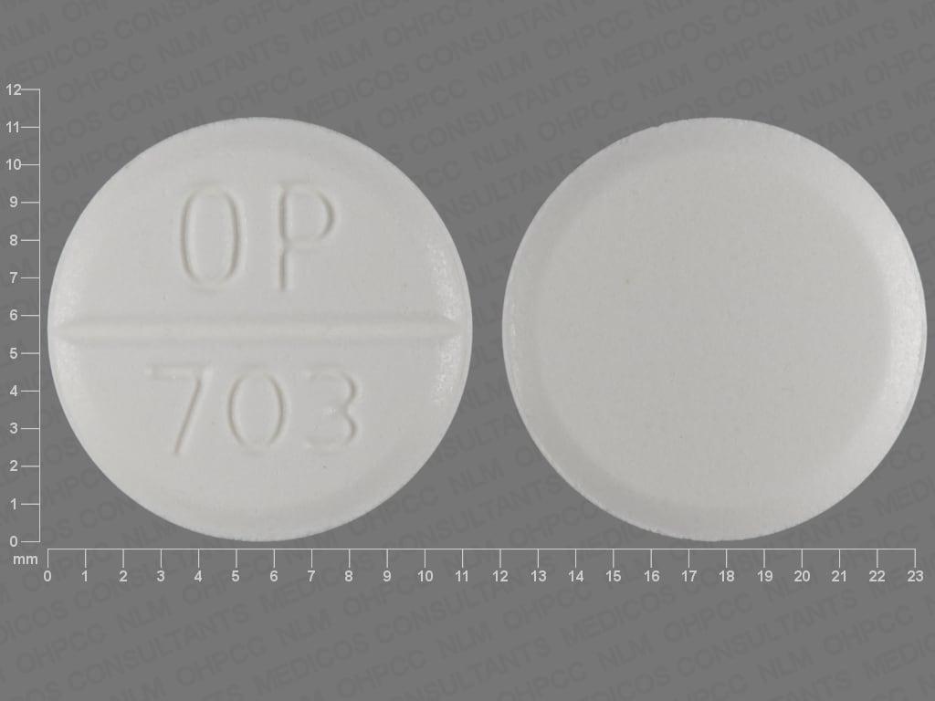 Imprint OP 703 - Urecholine 10 mg
