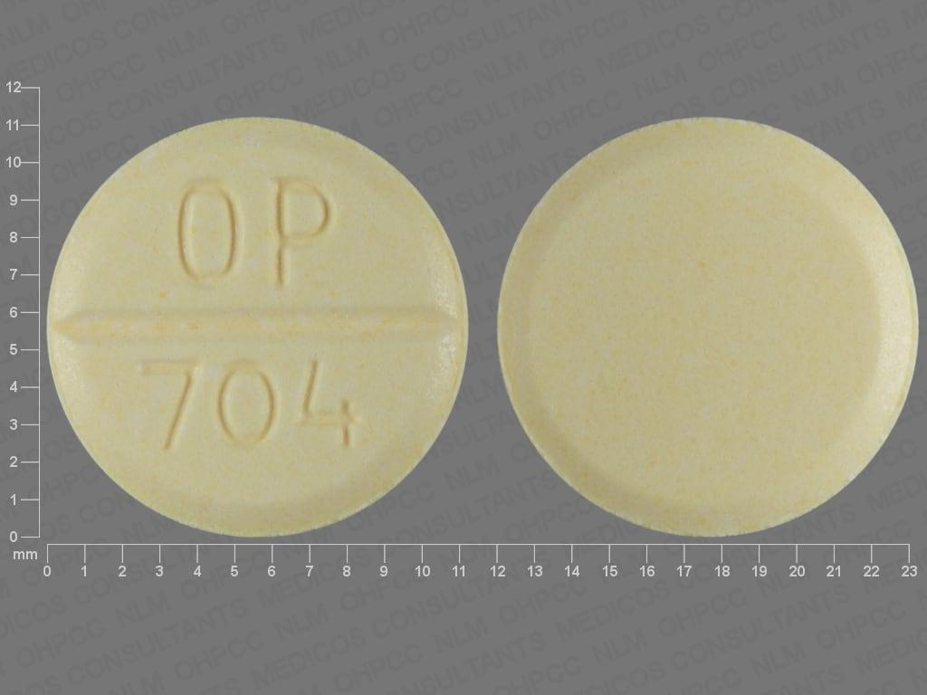 Imprint OP 704 - Urecholine 25 mg