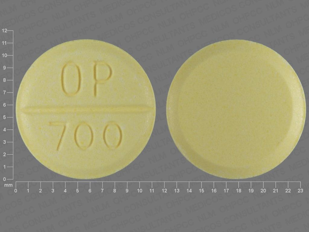 Imprint OP 700 - Urecholine 50 mg