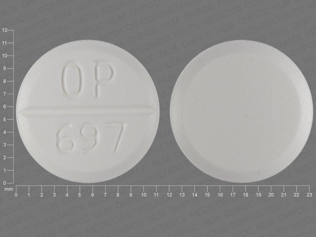 Imprint OP 697 - Urecholine 5 mg