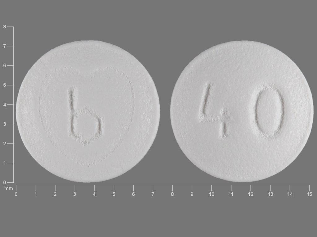 Imprint b 40 - Ziac 10 mg / 6.25 mg