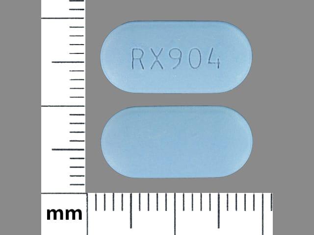 Imprint RX 904 - valacyclovir 500 mg