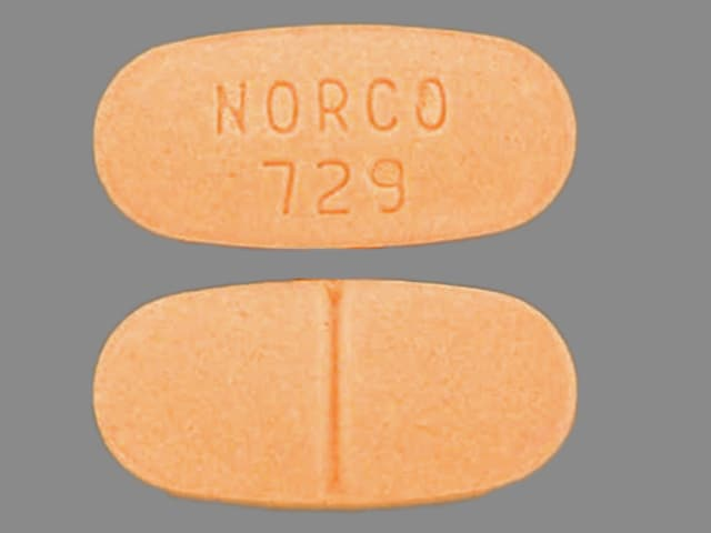 Imprint NORCO 729 - Norco 325 mg / 7.5 mg