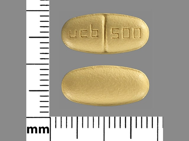 Imprint ucb 500 - Keppra 500 mg