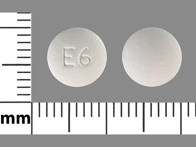 Imprint E6 - ethambutol 100 mg