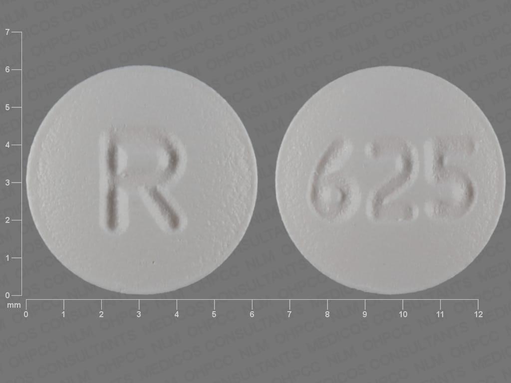 Imprint R 625 - zafirlukast 10 mg