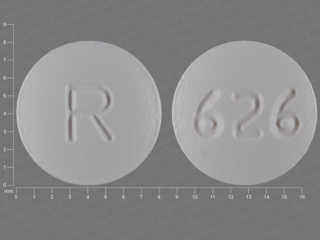 Imprint R 626 - zafirlukast 20 mg