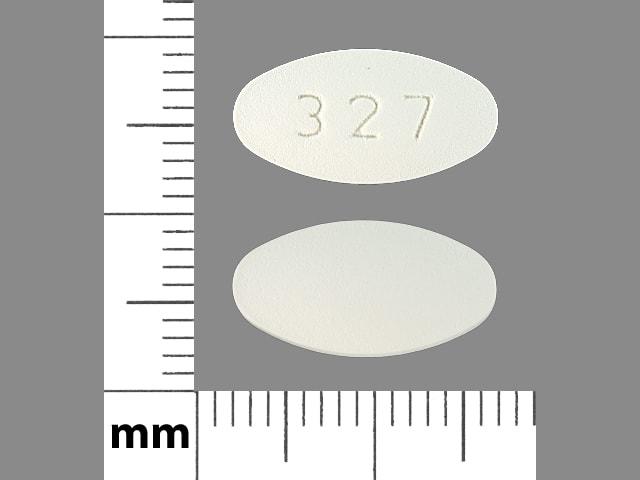 Imprint 327 - ticlopidine 250 mg