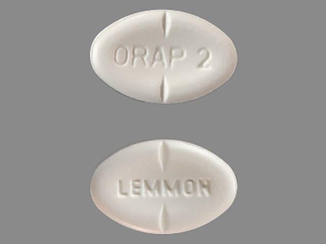 Imprint ORAP 2 LEMMON - Orap 2 mg