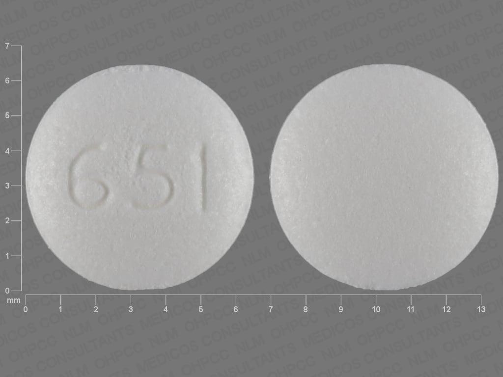 Imprint 651 - Kapvay 0.1 mg