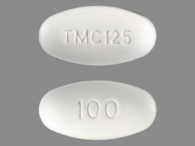 Imprint TMC125 100 - Intelence 100 mg