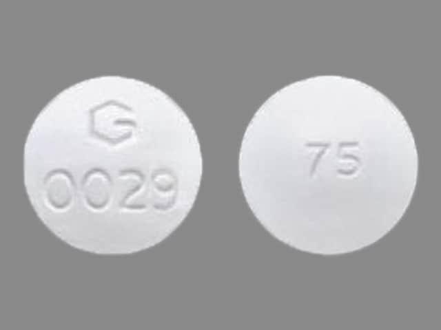 Imprint G 0029 75 - diclofenac/misoprostol 75 mg / 200 mcg