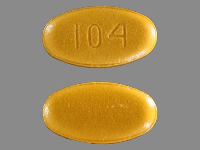 Imprint 104 - sulfasalazine 500 mg