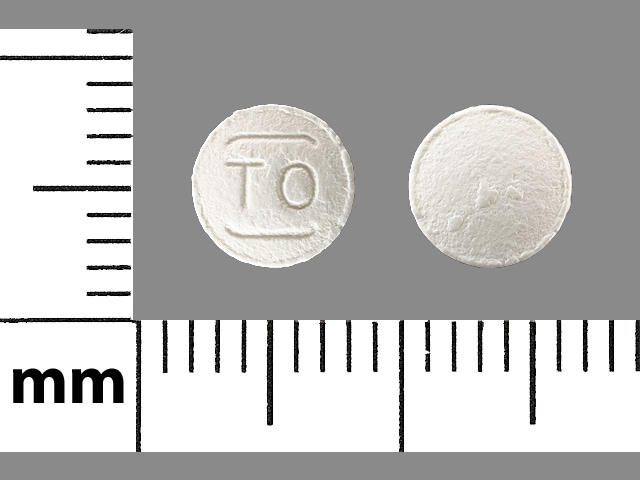 Imprint TO - tolterodine 1 mg