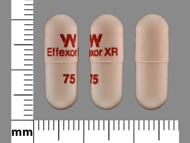 Image 1 - Imprint W Effexor XR 75 - Effexor XR 75 mg