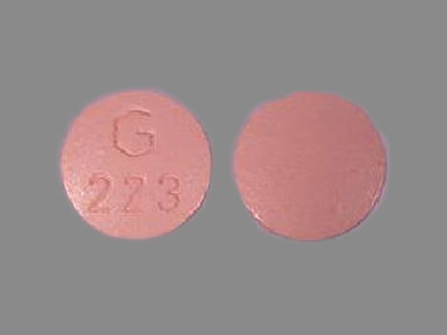 Imprint G 223 - hydrochlorothiazide/quinapril 25 mg / 20 mg