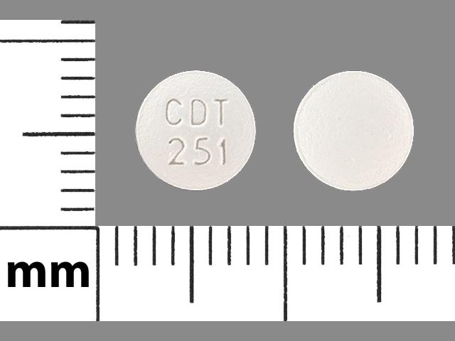 Imprint CDT 251 - amlodipine/atorvastatin 2.5 mg / 10 mg