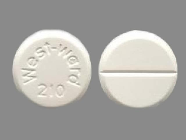 Imprint West-Ward 210 - chlorothiazide 500 mg