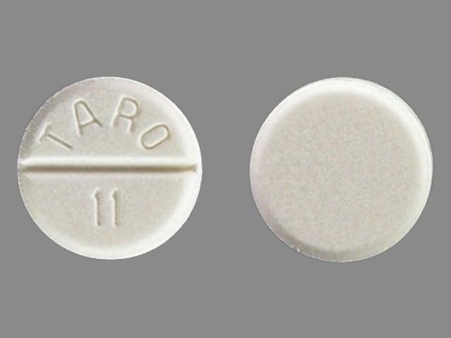 Image 1 - Imprint TARO 11 - carbamazepine 200 mg