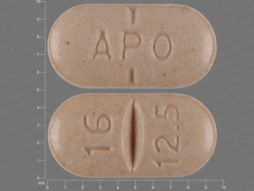Imprint APO 16 12.5 - candesartan/hydrochlorothiazide 16 mg / 12.5 mg