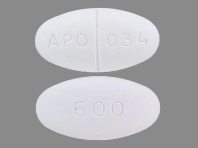 Imprint 600 APO 034 - gemfibrozil 600 mg