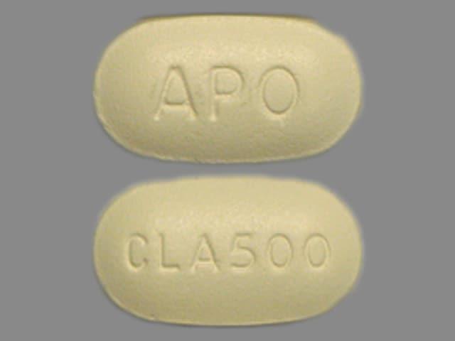 Imprint CLA500 APO - clarithromycin 500 mg