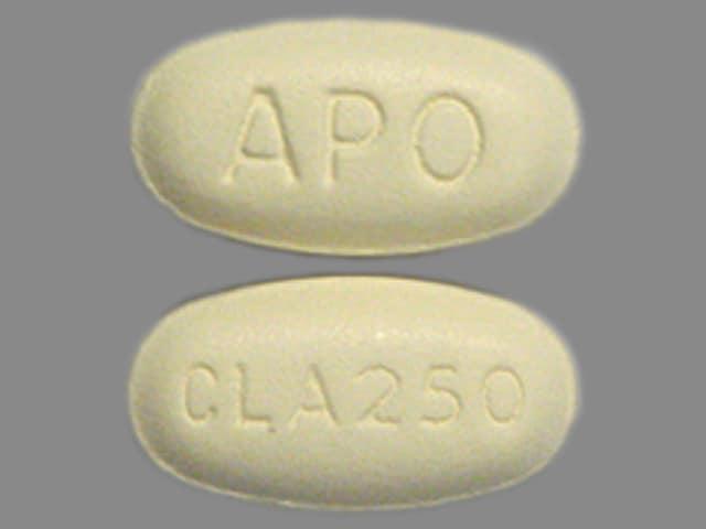 Imprint CLA250 APO - clarithromycin 250 mg