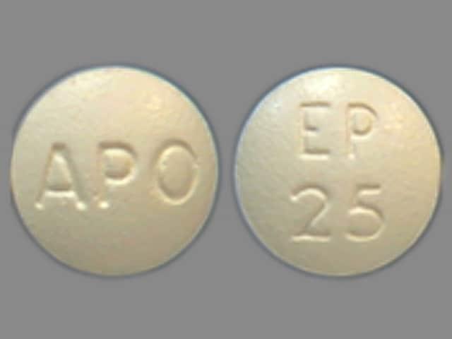 Imprint APO EP 25 - eplerenone 25 mg