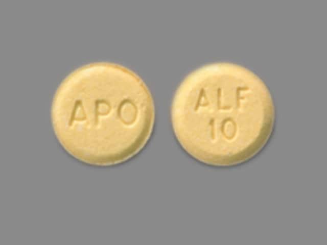 Imprint APO ALF 10 - alfuzosin 10 mg