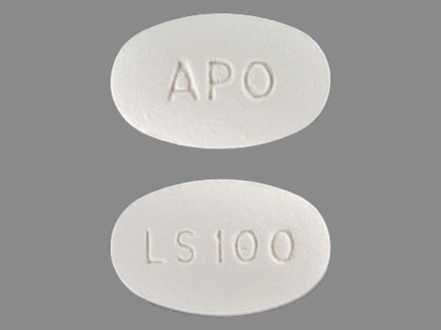 Imprint APO LS100 - losartan 100 mg
