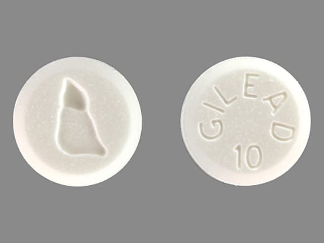 Imprint GILEAD 10 LOGO - Hepsera 10 mg