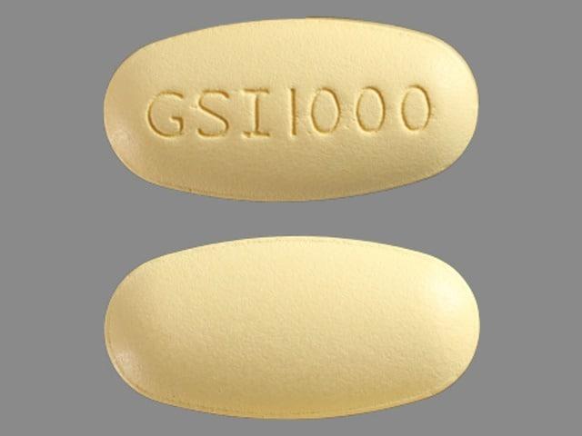 Imprint GSI1000 - Ranexa 1000 mg
