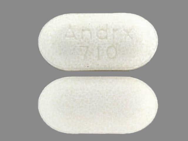 Imprint Andrx 710 - potassium chloride 10 mEq (750 mg)