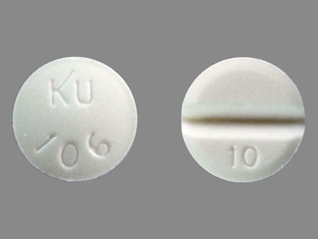 Imprint KU 106 10 - isosorbide mononitrate 10 mg