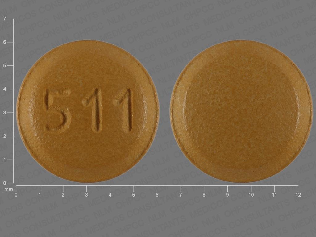 Imprint 511 - letrozole 2.5 mg