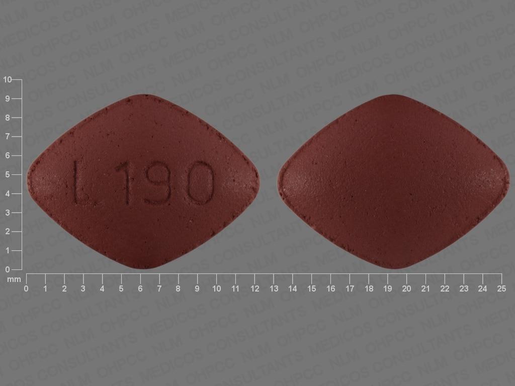 Imprint L190 - desvenlafaxine 100 mg