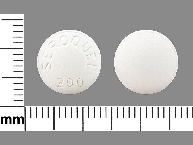 Imprint SEROQUEL 200 - Seroquel 200 mg
