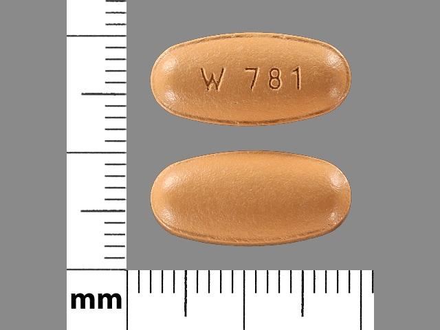 Imprint W 781 - entacapone 200 mg