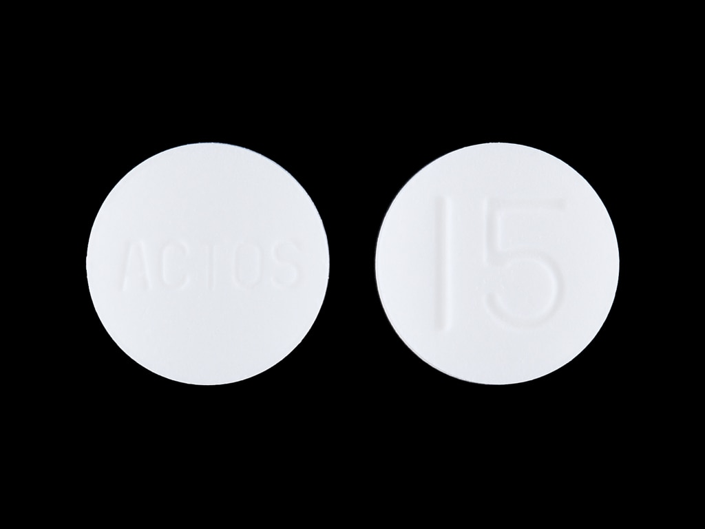 Imprint ACTOS 15 - Actos 15 mg