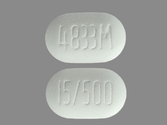 Imprint 4833M 15/500 - ActoPlus Met 500 mg / 15 mg