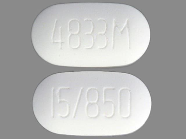 Imprint 4833M 15/850 - ActoPlus Met 850 mg / 15 mg