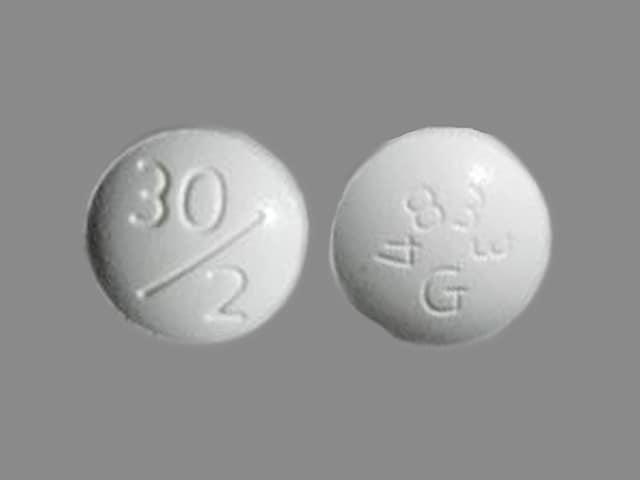 Imprint 30/2 4833G - Duetact 2 mg / 30 mg