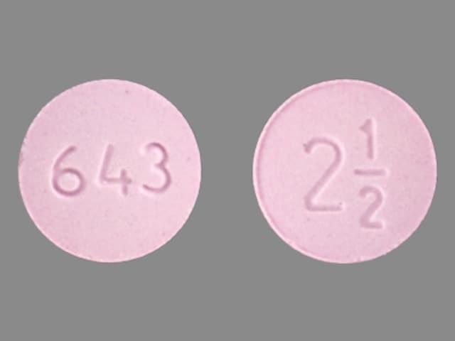 Imprint 643 2 1/2 - metolazone 2.5 mg