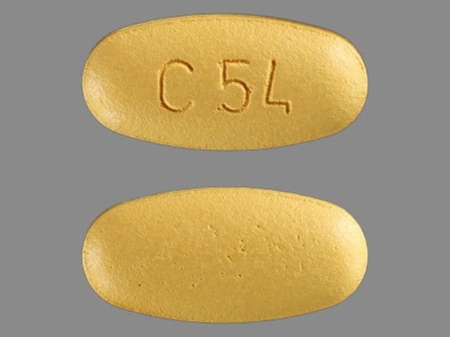 Imprint C54 - Tribenzor 5 mg / 25 mg / 40 mg