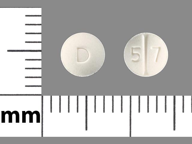 Imprint D 5 7 - perindopril 2 mg