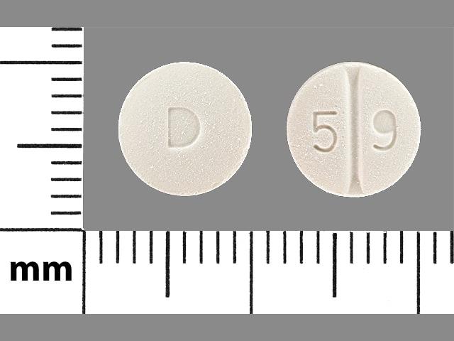 Imprint D 5 9 - perindopril 8 mg