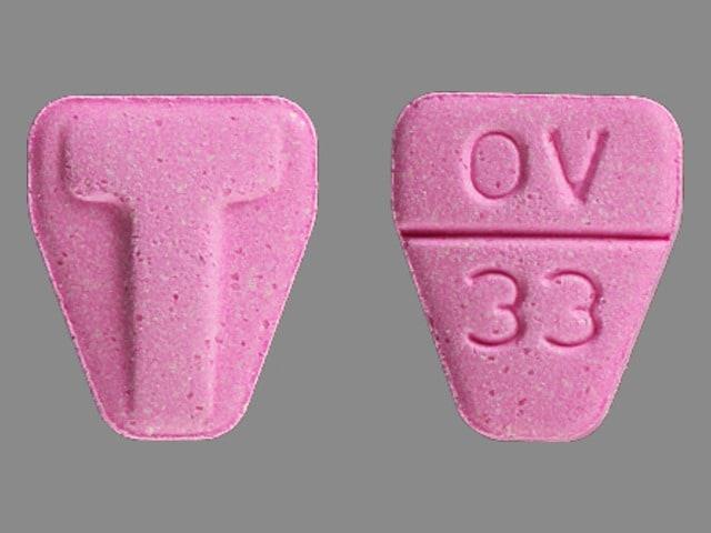 Imprint T OV 33 - Tranxene T-Tab 15 mg